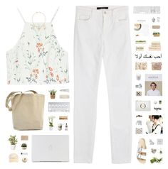 """KEY"" by c-hristinep ❤ liked on Polyvore featuring Zara, J Brand, Birkenstock, Jules Smith, Byredo, Mimco, The Elephant Family, Bambeco, Imm Living and Eos"