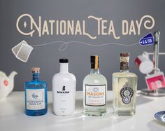 It's #NationalTeaDay today a drink we like almost as much as gin! Fortunately you can combine them! Many gins are made with tea as a botanical. It adds richness bitterness and floral notes that really sing when matched wth juniper. Sikkim Privee Drumshanbo Gunpowder Half Hitch and Masons Yorkshire tea are all really outstanding craft gins made with tea that we personally recommend. Especially the Masons which was our favourite new gin of 2015. Interested? Click the link in the description to