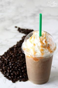 This Salted Caramel Frappuccino Starbucks Drink Copycat is amazing, it took a bit for me to get the recipe just right but it is perfect! I know you are going to love this Salted Caramel Frappuccino Vanilla Frappuccino, Starbucks Salted Caramel Frappuccino Recipe, Salted Caramel Macchiato Recipe, Oreo Starbucks, Starbucks Caramel Frappuccino, Mocha Frappe Recipe, Starbucks Coffee, Coffee Coffee, Coffee Beans