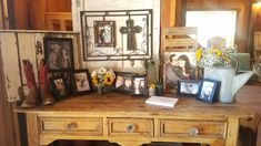 Guest book table set up.
