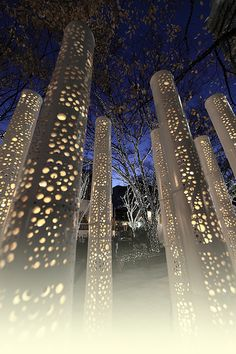 Bamboo lights at Omotesando