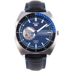 Seiko 5 Sports Automatic Mens Watch with Leather Strap SSA327J1 SSA327J