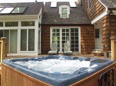 Hot Tub built into deck