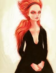 cartoon red orange hair