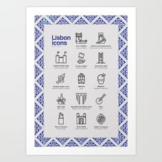 Icons that represent Lisbon in many ways. From well known monuments to typical…