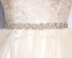 All around bridal belt Wedding sashes and belts Wedding dress