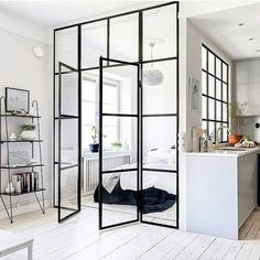 A Tiny Stockholm Apartment Makes the Most of 400 Square Feet Stockholm Apartment, Apartment Chic, Apartment Living, Modern Studio Apartment Ideas, Small Apartment Interior Design, Apartment Therapy, Condo Design, Small Living, Home And Living