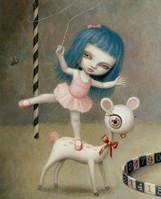 "April 2017: Pop Surrealism. ""Pony Girl"" by Mark Ryden."