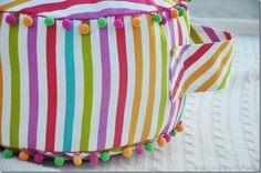 DIY Floor Cushion.  Only takes one yard of fabric!
