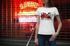 Peace Love Michael Myers Unisex Shirt, Michael Myers halloween Shirt, Halloween T Shirt Unisex, Halloween Gift Shirt, Halloween Horror Shirt Michael Myers, Halloween Shirt, Peace And Love, Horror, T Shirts For Women, Unisex, Mens Tops, Fashion, Quotes Motivation