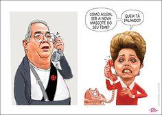 Eurico Miranda liga para Dilma ser nova mascote do Vasco...