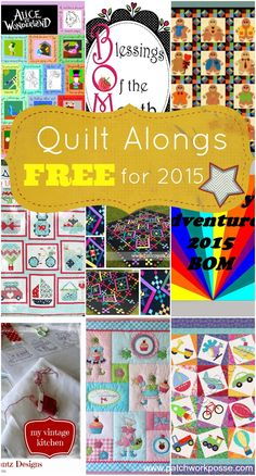 Quilt alongs are a great place to get started quilting. Lots of techniques, designs and patterns.