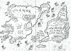 Isle of Berk Map from the original book version of How to Train Your Dragon. Dragon Birthday Parties, Dragon Party, Dragons, Dragon Rider, Httyd, Hiccup, How To Train Your Dragon, Disney And Dreamworks, Couture