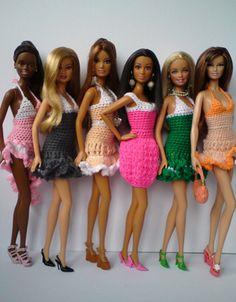 Free Barbie Crochet Dress Patterns | Barbie Collector Dolls: Free Crochet Doll Dress Patterns oh if only I had a girl! Lol