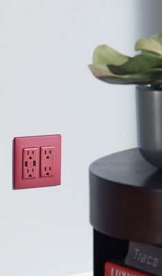 We are excited to introduce the latest addition to our colorful Renu family of products, the Renu USB Charger/Duplex Tamper-Resistant Outlet.  Part of the Renu collection of decorative devices, it is available in 20 popular colors and features a face that can be snapped off and on easily to update the color and create an new look at any time without any rewiring. The Renu line of decorative electrical products includes switches, outlets, GFCIs, dimmers, and sleek, screwless wall plates.