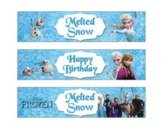 Frozen Water Bottle Label(Non personalized) Disney Frozen Birthday party Printable