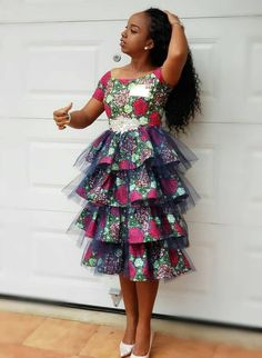 Check out This Lovely Classical Ankara Short Gown .Check out This Lovely Classical Ankara Short Gown