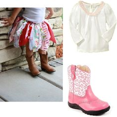 Skye's B-day - fabric tutu and boots, created by #bellasaraceno on #polyvore. #fashion #style #GAP CC SKYE