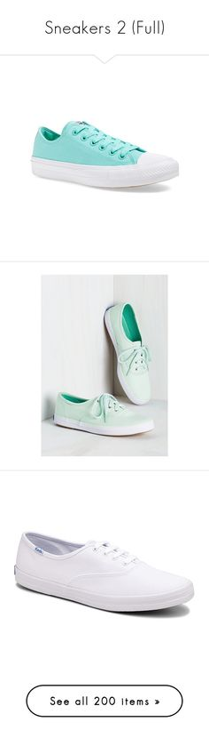 """""""Sneakers 2 (Full)"""" by middletondonna ❤ liked on Polyvore featuring shoes, sneakers, converse, teal canvas, low profile shoes, low top, teal blue shoes, color block sneakers, converse footwear and keds footwear"""