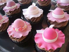 Mother's Day Hat Cupcakes