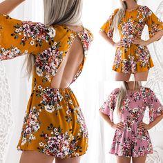 $4.99 - Women Ladies Clubwear Round Neck Playsuit Bodycon Party Jumpsuit&Romper Trousers #ebay #Fashion