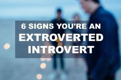 """If you're an extroverted introvert like me, you know how confusing this is for people. Everyone expects an introvert to be shy and reclusive. And we can be, but extroverted introverts also like to get out there and mix 'n mingle. When we're """"on"""", we are sociable, and friendly. When we're """"off"""", we hurry home …"""
