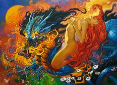 Dragon and Girl by ~oazen2008 on deviantART