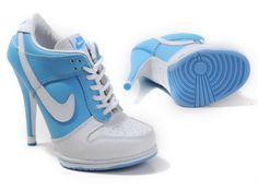 Nike Dunk SB Low Heels|||Blue And White Nike Dunk Low Heels|Jordan High Heels For Sale,Air Jordan Heels,Nike High Heels