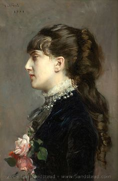 Boldini profile portrait of Gladys Deacon, later Duchess of Marlborough