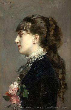 Boldini profile portrait of Gladys Deacon, later Duchess of Marlborough