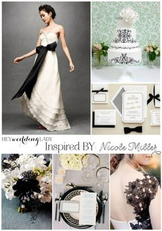 From the Runway to the Aisle – Bold and Romantic Black and White Wedding Inspiration from Nicole Miller