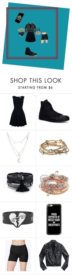 """""""To my crush"""" by missheru ❤ liked on Polyvore featuring Oasis, Converse, Charlotte Russe, Majique, Aéropostale, Hot Topic, Casetify, SPANX and Bebe"""