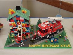 Savory magic cake with roasted peppers and tandoori - Clean Eating Snacks Superhero Birthday Cake, Lego Birthday, Star Wars Birthday, Cake Birthday, Happy Birthday, Fire Engine Cake, Fire Cake, Lego City Fire, Monster High Cakes