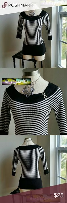 WHBM.....BEAUTIFUL STRIPE ...TOP ...ADDING INFO SOON...EXCELLENT CONDITION  ...NORMAL WEAR ...NO FLAWS... White House Black Market Tops Blouses