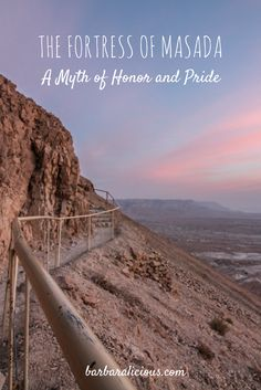 The fortress of Masada is a beautiful UNESCO World Heritage Site between the Dead Sea and the Judean Desert in Israel. Let me take you on a hike and tell you about the myth of Masada!