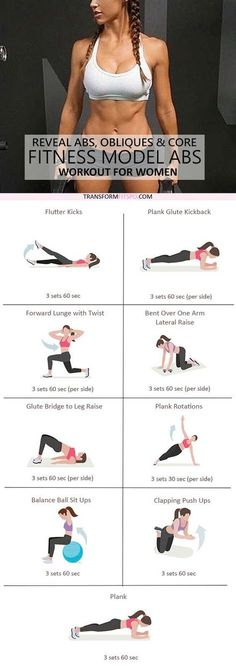 Repin and share if you found your abs with this super effective fitness model workout! Read the post for all the info and workouts!