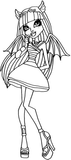 Monster High Rochelle Gregory Goyle Confusion Coloring Page
