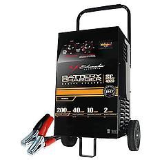 Every garage needs a battery charger. The Schumacher 200-amp manual battery charger is a versatile battery charger that's effective for use as an emergency starter, everyday charger and battery maintainer!