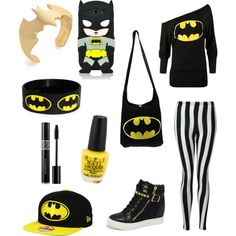 Batman Outfit by michaelalemmons on Polyvore featuring polyvore fashion style Glamorous Noir Samsung Christian Dior