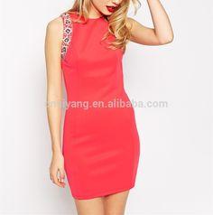 Dongguan 2015 Women summer dress, sleeveless fashion advanced apparel dress