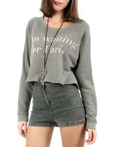 #Jersey Double Agent. Estampado 'I'm Waiting for Paris', por 14,99€ en www.doubleagent.es #ropa #clothes #fashion