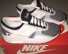 new product bf717 f8d0f Boys Nike Air Max Zero Essential Running Shoes Youth size 2 Y White   Black  NIB