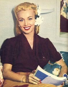 Todays 1940s hair & make up Inspiration from Carole Landis (January 1, 1919 – July 5, 1948)