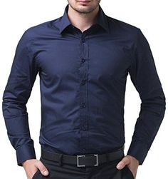 Fashion Navy Blue Dress Shirt Casual Cotton Button Down S... https://smile.amazon.com/dp/B00VHYVGPG/ref=cm_sw_r_pi_dp_x_Wjk1yb2Y9FR2R