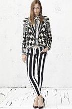 Nadja Bender for Balmain, resort 2013 Pierre Balmain, Trendy Fashion, Fashion Show, Fashion Design, Fashion Today, Fall Fashion, Summer Stripes, Striped Jeans, Pattern Mixing