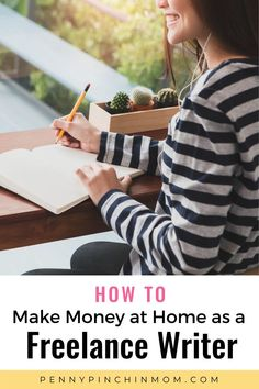Learn how to make money at home as a freelance writer. A professional freelance journalist shares her tips on how to get started. Make Money From Home, Way To Make Money, Make Money Online, How To Make, Create A Budget, Frugal Living Tips, Be Your Own Boss, Life Insurance, Money Saving Tips