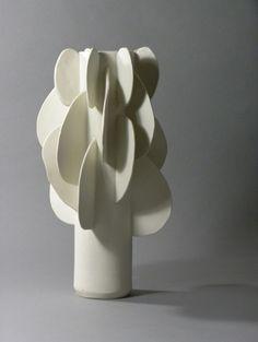 """from """"Paddle"""" series Yana Goldfine 2016 porcelain Porcelain Ceramics, Ceramic Vase, Ceramic Pottery, Vases, Imagination Art, Ceramic Light, Contemporary Ceramics, Sculpture, Diy Art"""