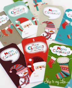 10 Different Sets of Free Printable Gift Tags