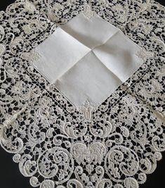 Buyer & Seller of Antique Lace, Fine Linens, Vintage Clothing, Haute Couture, Textiles, Fans: Archive