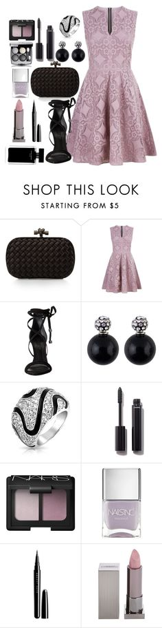 """lilac sky."" by rostovskaya-regina on Polyvore featuring мода, Bottega Veneta, Burberry, Schutz, Bling Jewelry, Chanel, NARS Cosmetics, Nails Inc., Marc Jacobs и Lipstick Queen"
